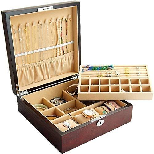 Adlnwa Adlnwa Uhrenbox für Herren Wood Large Organizer Uhrengehäuse Elegance für Uhrenhalter