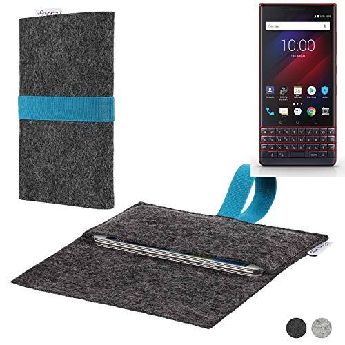flat.design Handy Hülle Aveiro für BlackBerry Key 2 LE Dual-SIM passgenaue Filz Tasche Case Sleeve Made in Germany