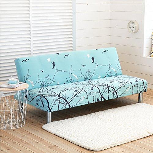 Poliestere elasticizzato slipcovers, stampa colorata divano covers posti divano protector fit divano letto pieghevole senza braccioli c style
