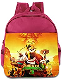 Kids Kung Fu Panda 3 School Backpack Fashion Baby Boys Girls School Bags Pink