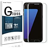 etmury Galaxy S7Edge Protector de pantalla, vidrio templado Protector de pantalla Samsung Galaxy S7Edge 5.5pulgadas, curvado Protector de pantalla [dureza de 9H] [resistente a los arañazos] para Samsung Galaxy S7Edge