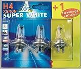 Unitec 77824 Halogenlampe H4 Xenon Super White 2 + 1