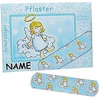 Unbekannt 10 Kinderpflaster im Nachfüllpack mit Schutzengel - Motiv incl. Namen - in blau - Pflaster für Kinder... preisvergleich bei billige-tabletten.eu