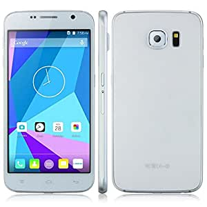 Landvo L6 3G Smartphone 5.0 Inch QHD Android 5.0 Cell Phone MTK6572W Dual Core GPS WIFI Bluetooth 5.0MP Camera Mobile Phone 512MB + 4GB - White