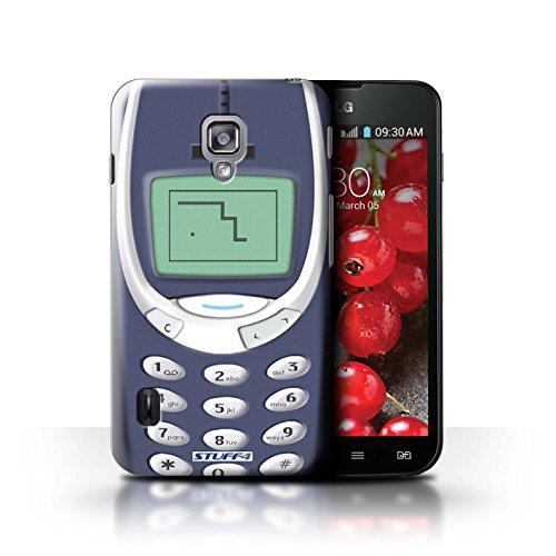 Kobalt® Imprimé Etui / Coque pour LG Optimus L7 II Dual / Nokia 3310 jaune conception / Série Portables rétro Nokia 3310 bleu