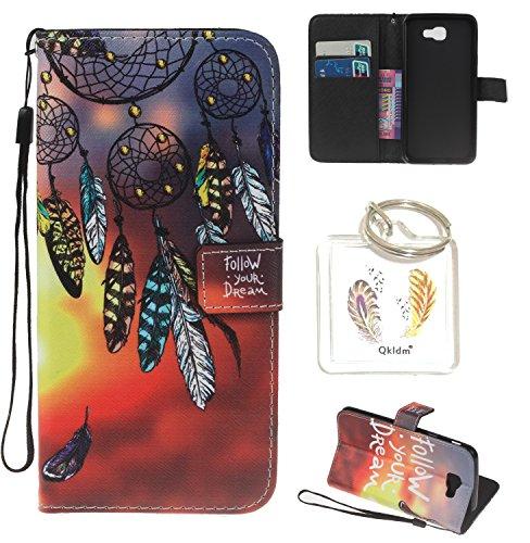 Preisvergleich Produktbild für Galaxy J5 2017 PU Silikon Schutzhülle Handyhülle Painted pc case cover hülle Handy-Fall-Haut Shell Abdeckungen für Smartphone Samsung Galaxy J5 2017 + Schlüsselanhänger (/Z) (2) (7)