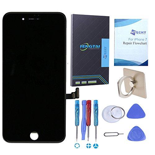 Htechy Kompatible mit iPhone 7 Display schwarz Komplettes LCD Ersatz Retina Set Für Touchscreen Bildschirm Glas mit Kostenlose Werkzeug - Das Iphone-display Schwarz