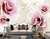 Fototapete 3D Effekt Tapete Die Rote Rose Vliestapete 3D Wallpaper Moderne Wanddeko Wandbilder