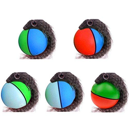 taonmeisu Pets Toys Kunststoff Kunstfell Chaser Ball Elektrische Wizard Maus Wiesel Ball für Hunde/Katzen Kinder