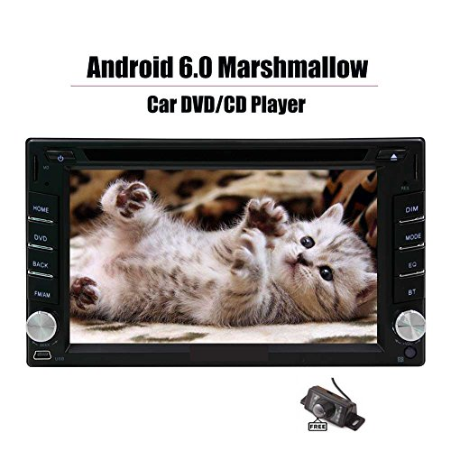 "Android 6 Touch Screen Car Stereo - 6,2"" Zoll Doppelt-L?rm im Schlag-Auto-Radio Video Multimedia-DVD-Player mit Bluetooth-Wireless-LAN-Spiegel Link-GPS-Navigationssystem + Free Backup-Kamera !!"