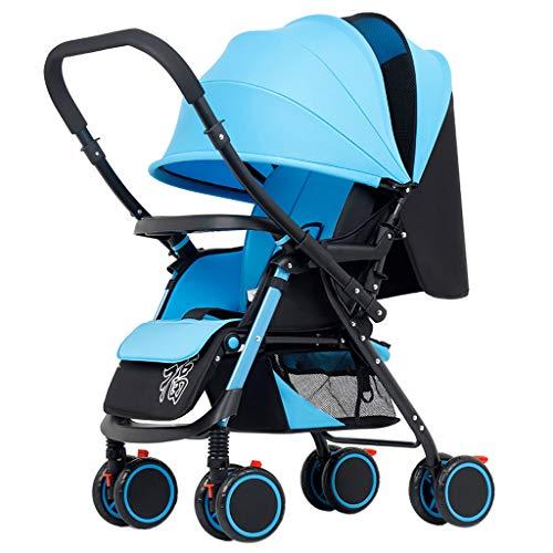 Leichter Faltender Vierrädriger Trolley für 0-36 Monate Jungen & Mädchen Buggy Babytragetasche und Kinderwagen Jogger Travel System, 47 * 68 * 98 cm (Travel-system-kinderwagen Mädchen Für)