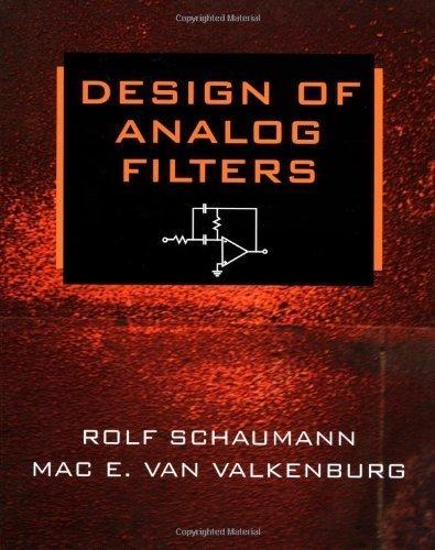 Design of Analog Filters by Rolf Schaumann (2001-01-15) - 2001 Van