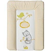 Colchón Cambiador de Bebé Blando de Petit Chat 70*5*50 cm- modelo Versalles Amarillo