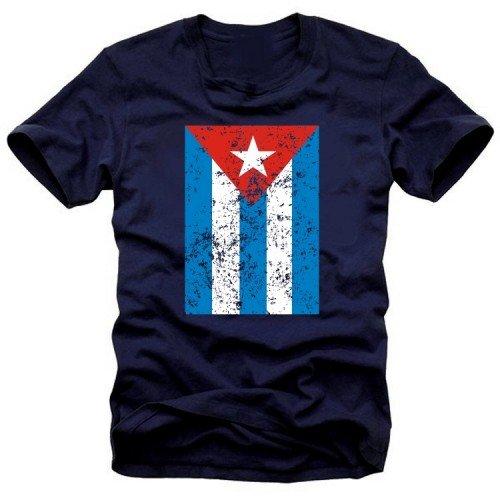Preisvergleich Produktbild CUBA VINTAGE - Kuba Libre T-shirt - T-Shirt, Navy Gr.XXXL
