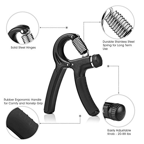 Hand Trainingsgerät Verstellbarer Widerstandsbereich 10-40 Kg Abbildung 3