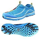 SAGUARO® Unisex Damen Herren Aquaschuhe Strandschuhe Breathable Ineinander Greifen Wasserdicht Schlüpfen Schnell Trocknend Schwimmschuhe Surfschuhe, Blau 37