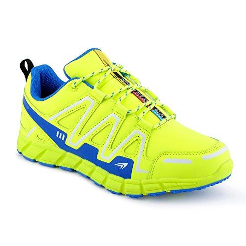 FiveSix Herren Damen Sneaker Sportschuhe Lauf Freizeit Mehrfarbig Runners Fitness Low Unisex Schuhe Grün/Blau-M