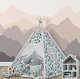 "Tenda Tipi indiana ""Elfique"" con doppia coperta imbottita e 3 cuscini"