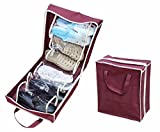 Generic Black : HOT Shoe organizer Fits Up to 6 Pairs of Shoes Waterproof Portable Shoe Bag Pouch Travel Non-woven fabric Storage Bag Tote