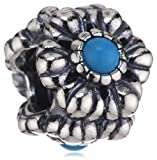 Pandora Damen-Charm Türkis 925 Sterling Silber 790580TQ
