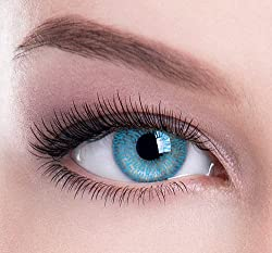 Color Perfections 1 Tone Coloured Contact Lenses - Without Power(Blue)