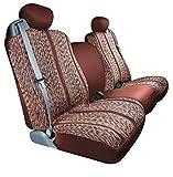 Automotive Innovations Wine : Saddleman Custom Made Front Bucket Seat Covers - Saddle Blanket Fabric (Wine)