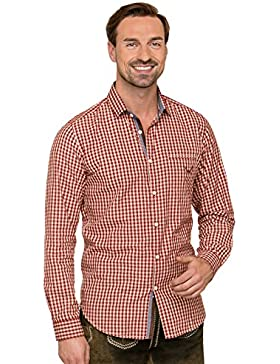 Trachtenhemd Langarm Modern Fit Levy DarkRed