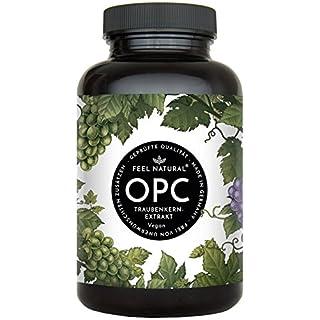 OPC Traubenkernextrakt - 240 Kapseln. Höchster OPC Gehalt nach HPLC - Premium: aus französischen Weintrauben. 860mg Extrakt mit 600mg OPC je Tagesdosis. Laborgeprüft, vegan, hergestellt in Deutschland