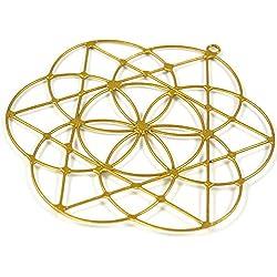 Guru-Shop los Colectores Solares, Suncatcher`Flower de la Vida `, Metal, Colector Ideal Móvil