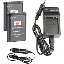DSTE® Batería de repuesto DC152E Kit de Cargador de viaje para Nikon EN-EL23Coolpix P600Coolpix S810°C P900P900S cámara Digital