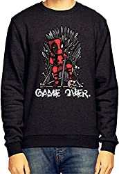 Deadpool Game Over Black Sweatshirt / Jumper