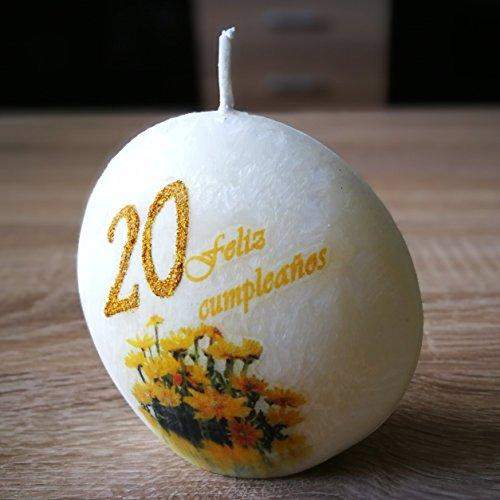 El regalo perfecto: decoración de vela original vela de cumpleaños: Vela de cumpleaños en diferentes colores con un largo tiempo de encendido. Velas bloque de cera de palma para cumpleaños, aniversarios y vacaciones