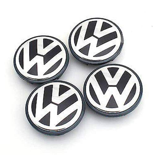 Set of 4 hubcaps 65 mm Replacement Tiguan Polo Passat Hub Caps for Alloy Wheels