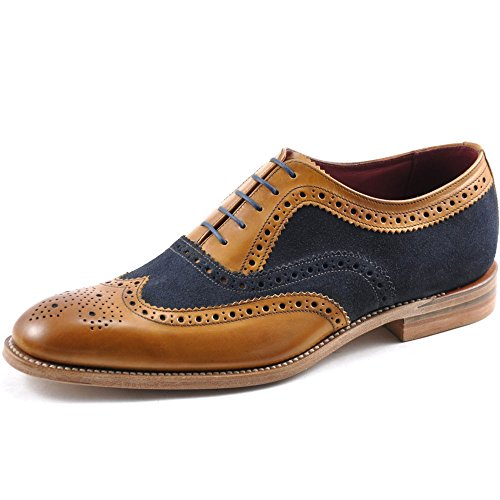 loake-hombres-tan-thompson-brogue-zapatos-uk-9