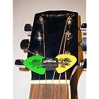 zhjz Alice a010C 5pcs Negro de goma para púas Fix de cabezal para guitarra