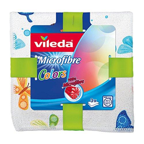 Vileda microfibra bayetas (Colors Diseño, (Pack de 3, 3x 3unidades)