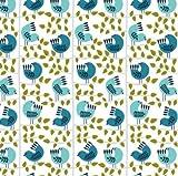Scandi Birds DASH213 Stoffe, Weihnachts-Waldmotiv, 100%