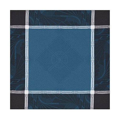Le Jacquard Français Serviette de Table Coton Peigné, Bleu Paon, 58x58x0,1 cm