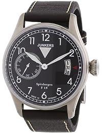 Junkers Herren-Armbanduhr XL Spitzbergen F13 Analog Handaufzug Leder 61302