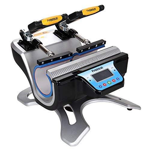 Ridgeyard Automatische Doppel Station Becher Transferpresse Maschine DIY Sublimation 2 Tassen in einem LCD Zeitsteuerung für Tasse Drucken