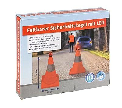 III 10049516 Faltbarer Sicherheitskegel mit LED Licht, Ca. 45 cm