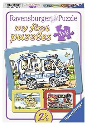 Ravensburger 06115 - Feuerwehr, Polizei, Rettungshubschrauber, my first puzzles 3x6 Rahmenpuzzle von Ravensburger Spieleverlag