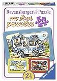 Ravensburger 06115 - Feuerwehr, Polizei, Rettungshubschrauber, My First Puzzles 3x6 Rahmenpuzzle -