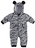Bubbu Babymode Baby Strampler Kuschel Tiere 'Fleece' | Babystrampler langarm | Giraffe, Zebra, Elefant, Hase, Größe:18-24 Monate;Modell:Zebra