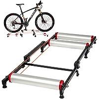 RockBros - Rodillo de entrenamiento para bicicleta estática, plegable, color negro y plateado, negro