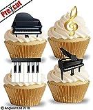 vorgeschnittenen Piano essbarem Reispapier/Waffel Papier Cupcake Kuchen Dessert Topper Party Geburtstag Hochzeit Musik Schlüssel Notenschlüssel Dekorationen