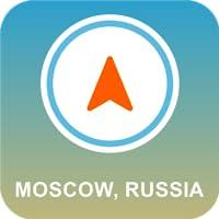 Moskau, Russland Offline-GPS