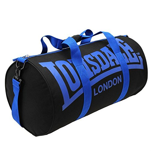 Lonsdale Barrel Bag[Black/Blue]