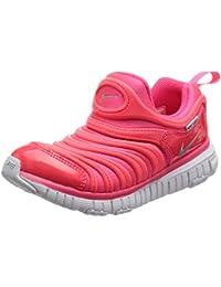 Nike Dynamo Free (PS)–Scarpe da corsa, Unisex bambino, Rosa (Racer Pink/METALLIC silver-hot Punch)