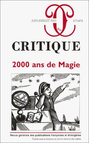 Critique, numéro 673-674 : 2000 ans de Magie par Collectif